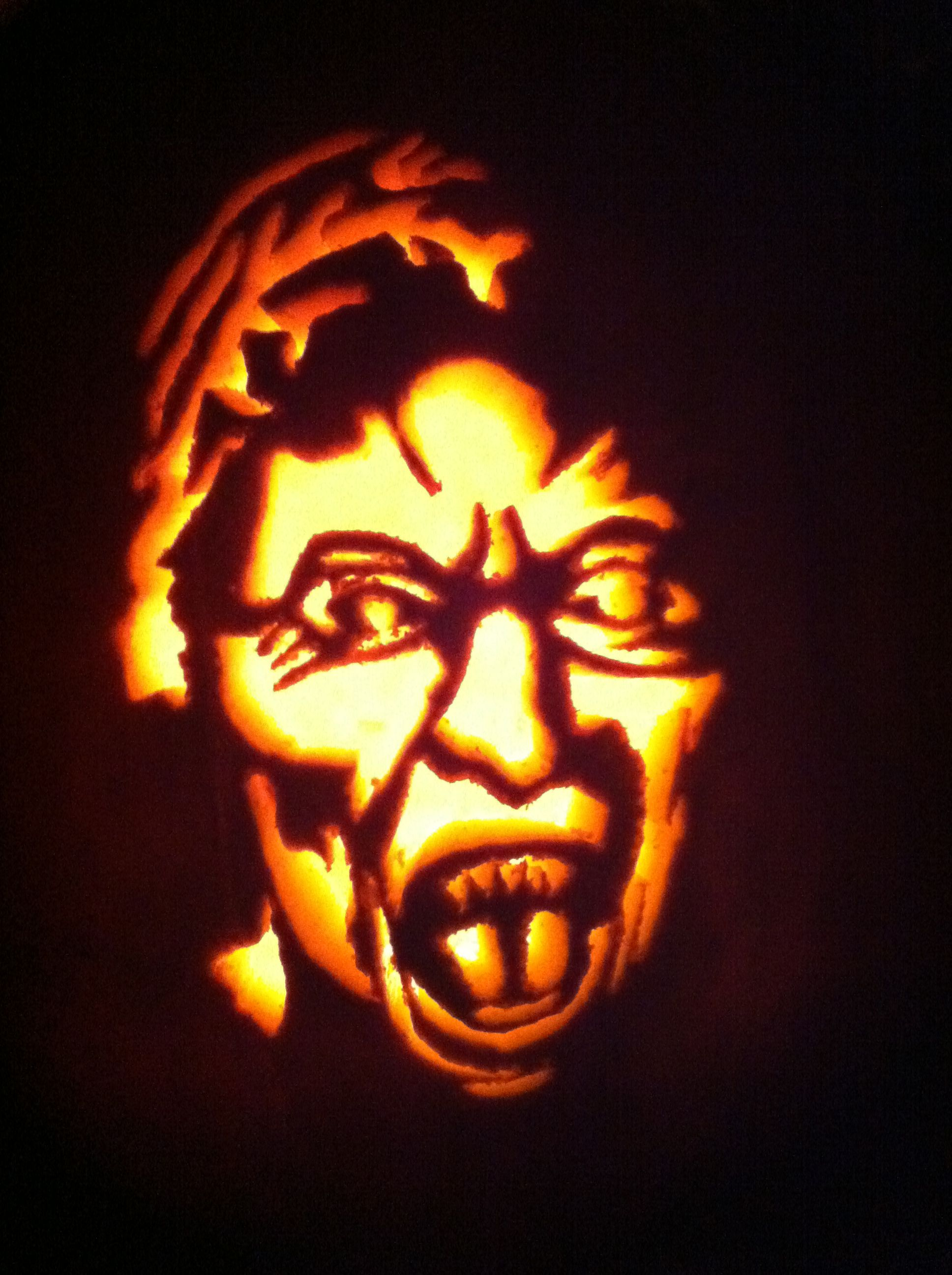 Doctor Who Weeping Angel Pumpkin Template Thinkgeekoween