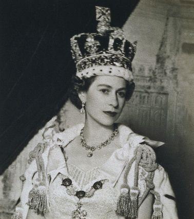 Queen Elizabeth II at her coronation in 1953.