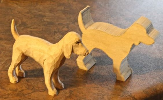 dog whittle with or without dremmel   DIY   Simple wood ...