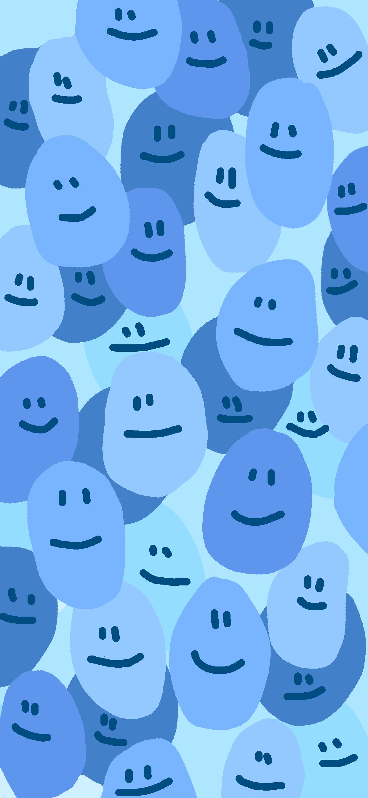 Blue Smiley Face Wallpaper