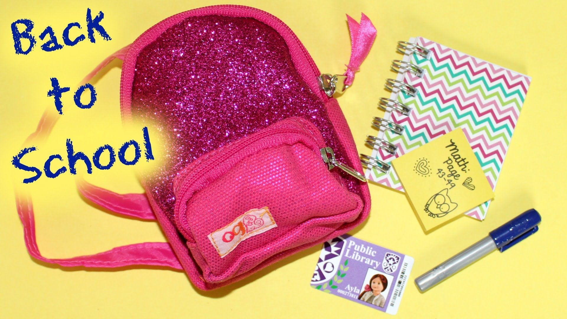 Back To School Our Generation Doll School Smarts Review American