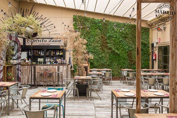 Terraza saporem madrid 5eglobal spain madrid la latina for Restaurantes con terraza madrid