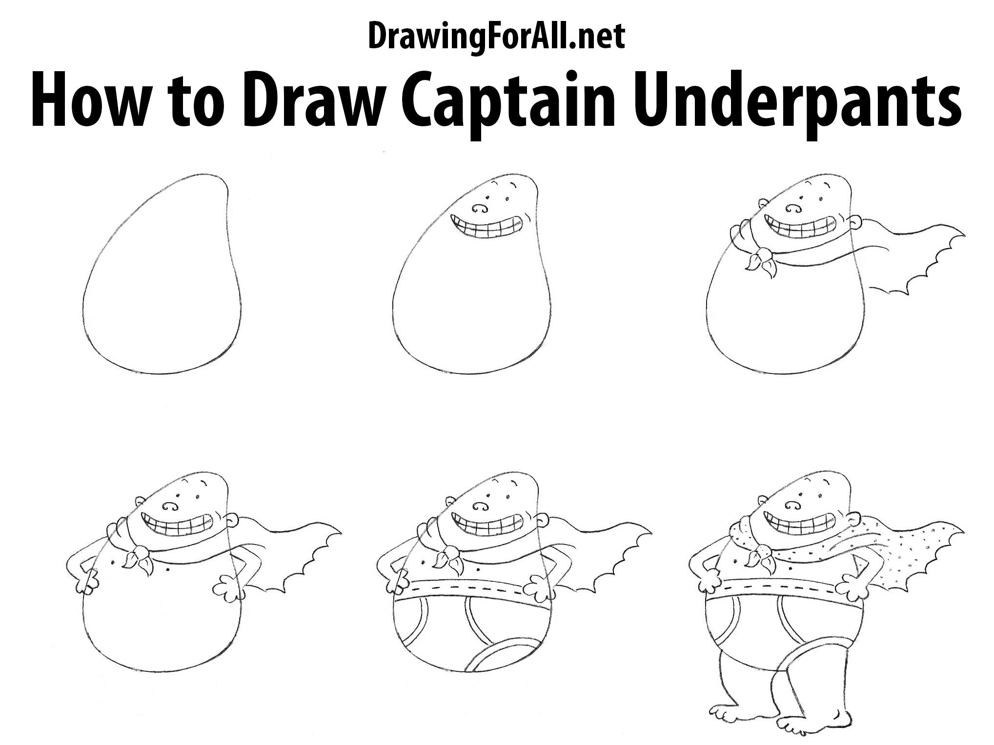 How To Draw Captain Underpants