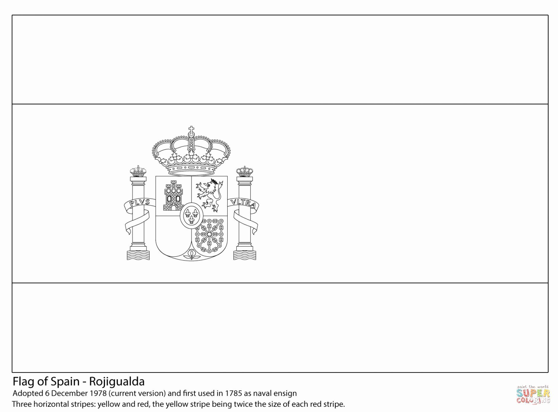 flag of spain coloring page fresh awesome spanish color