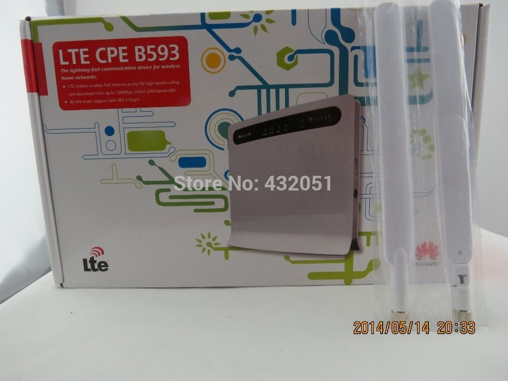 Free shipping+A pair of B593 External Antenna+4G LTE 100Mbps Huawei