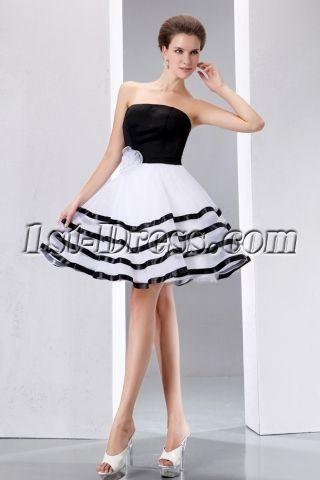 2b96f371c7b Stunning Black and White Short Formal Dresses | Short Cute ...