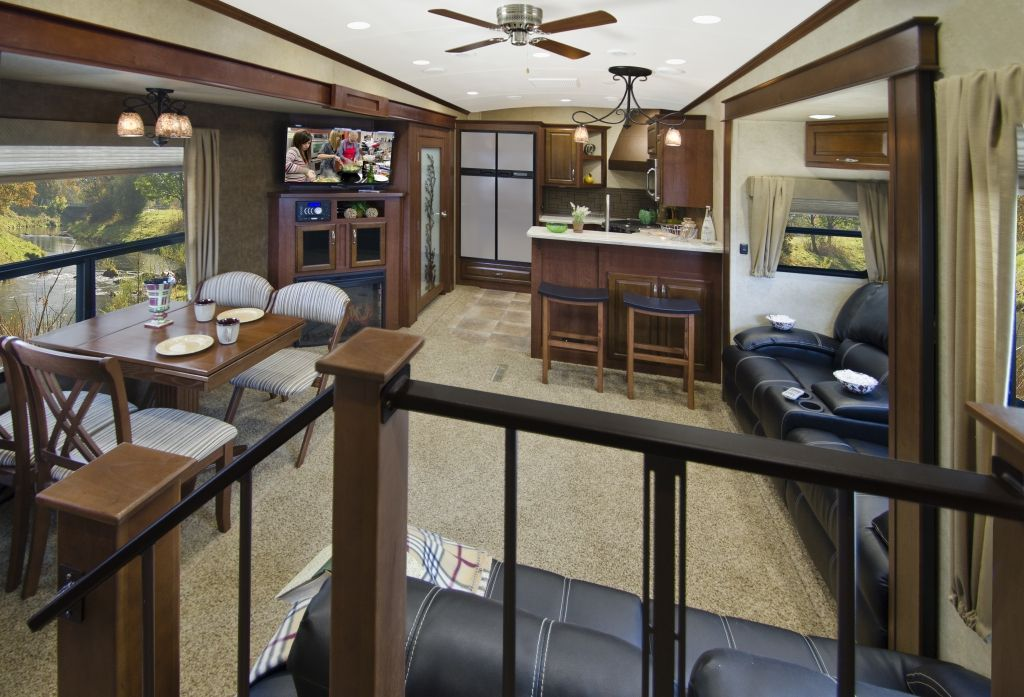 Awesome Fifth Wheel Campers With Bunkhouse And Outdoor Kitchen