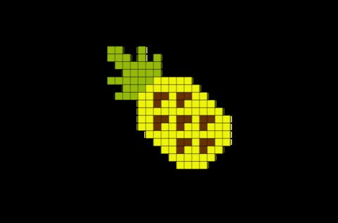 Pineapple Pixel Art Pixel Art Art Eyes Emoji