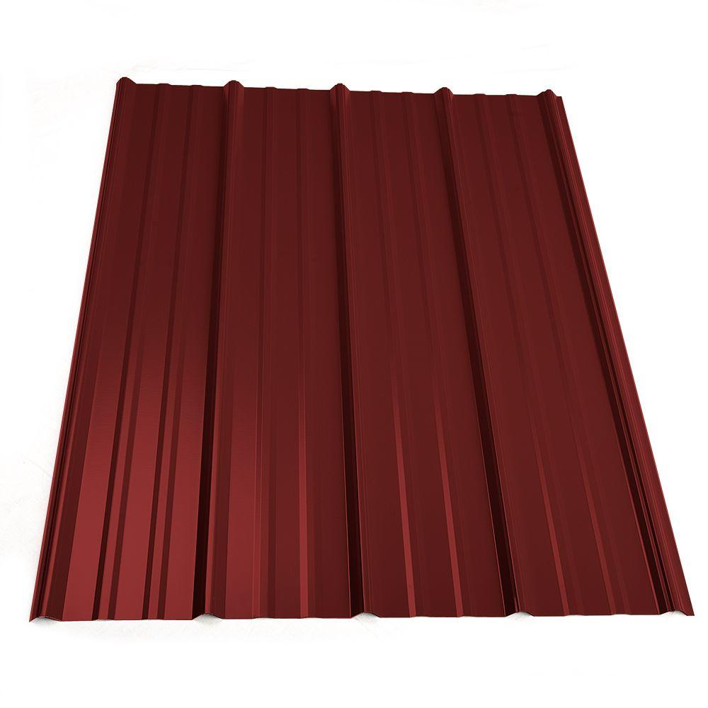 Metal Sales 12 Ft Classic Rib Steel Roof Panel In Red 2313424 The Home Depot Steel Roof Panels Roof Panels Metal Roof