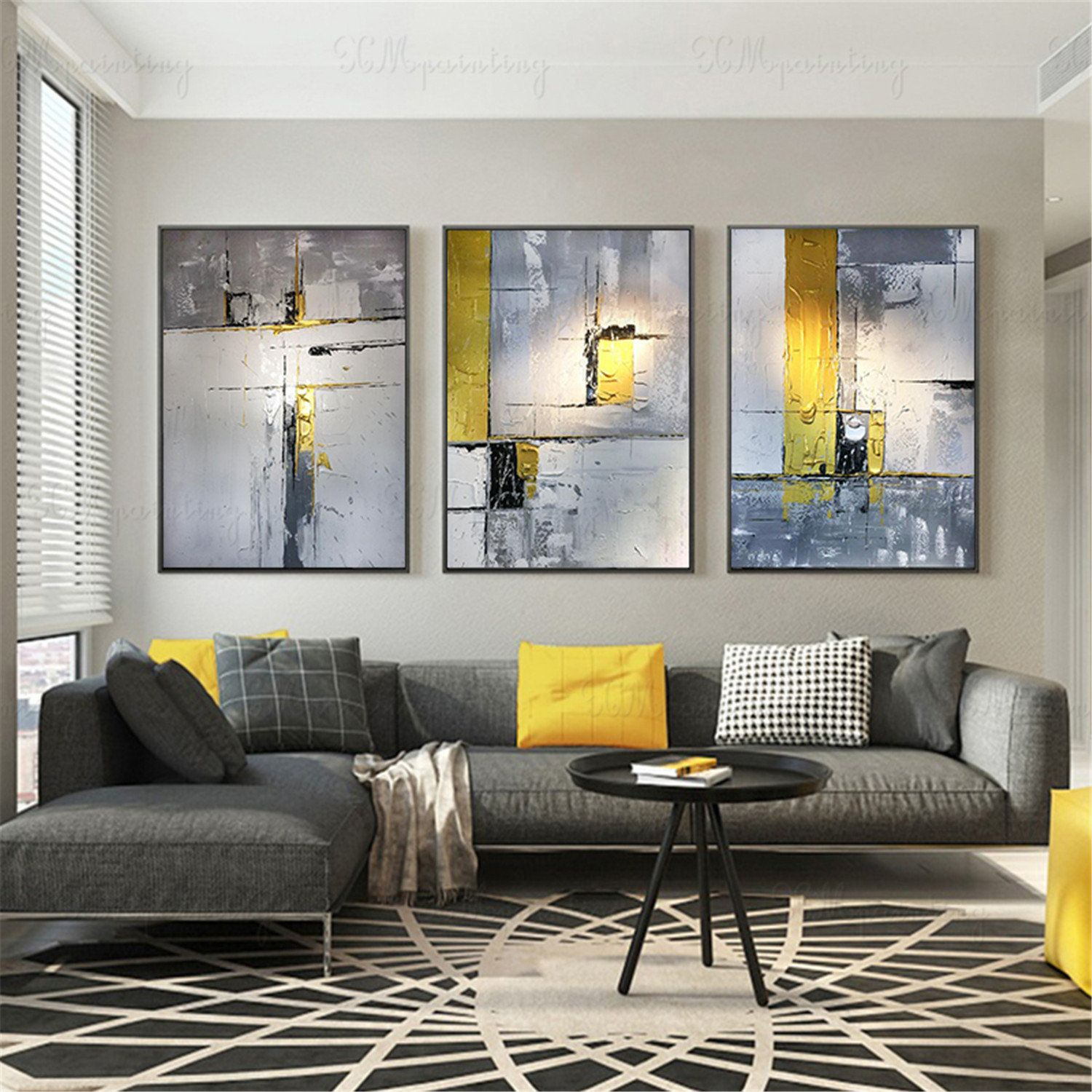 Grey Wall Art For Living Room