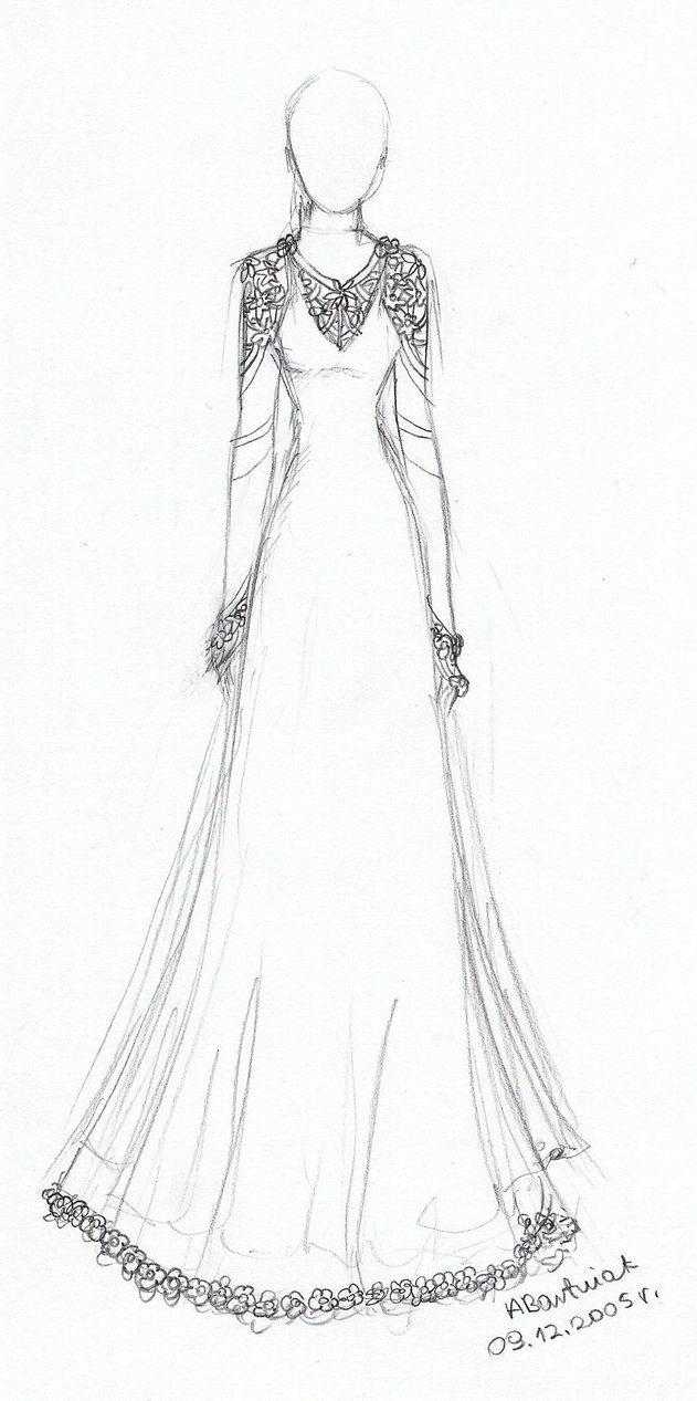 34b90bf5e20 Simple Wedding Dress Design Drawings - valoblogi.com