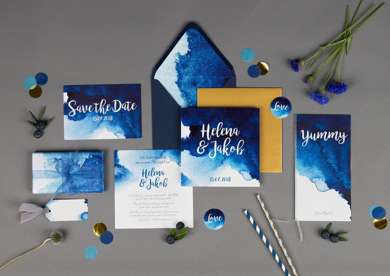Einladungskarten Hochzeit Einladungskarten Aquarell