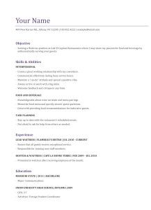 How To Write The Perfect Waitress Resume HttpWww