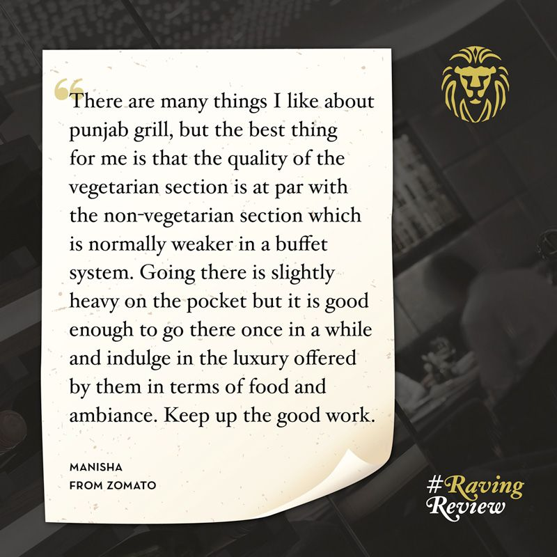 #RavingReview by Manisha from the Zomato!
