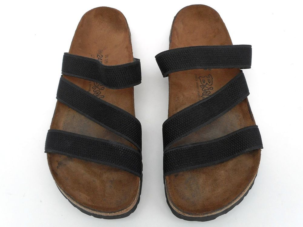 62572bb154882 BIRKI'S by Birkenstock Antigua Slip-on Sandals Elastic Straps Sz 7 ...