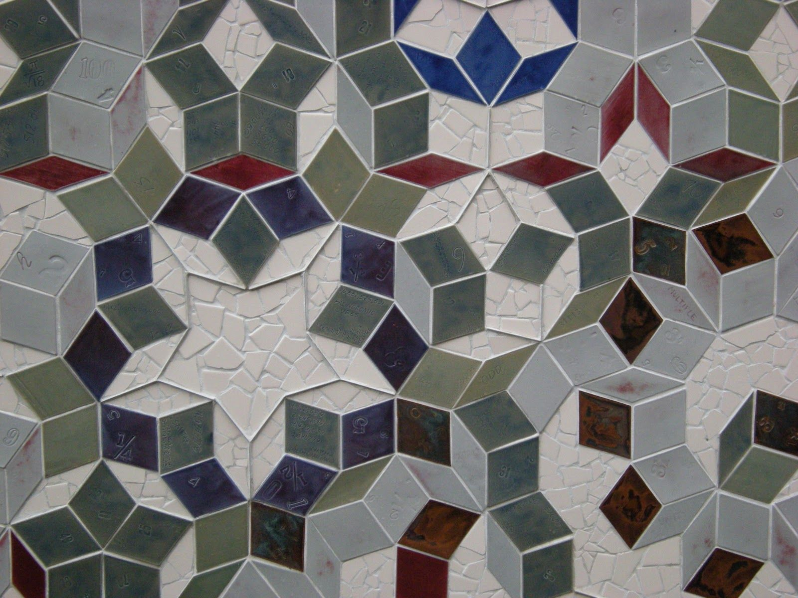 The Mathematical Tourist Tessellation Tango Mosaic Tile Designs Penrose Tiling Mural Design