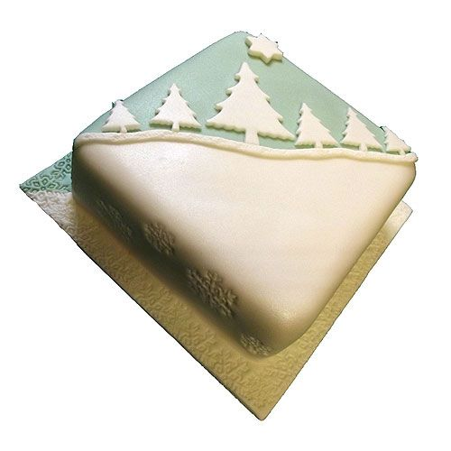 Xmas Cakes - Boozy fruit cake with winter scene