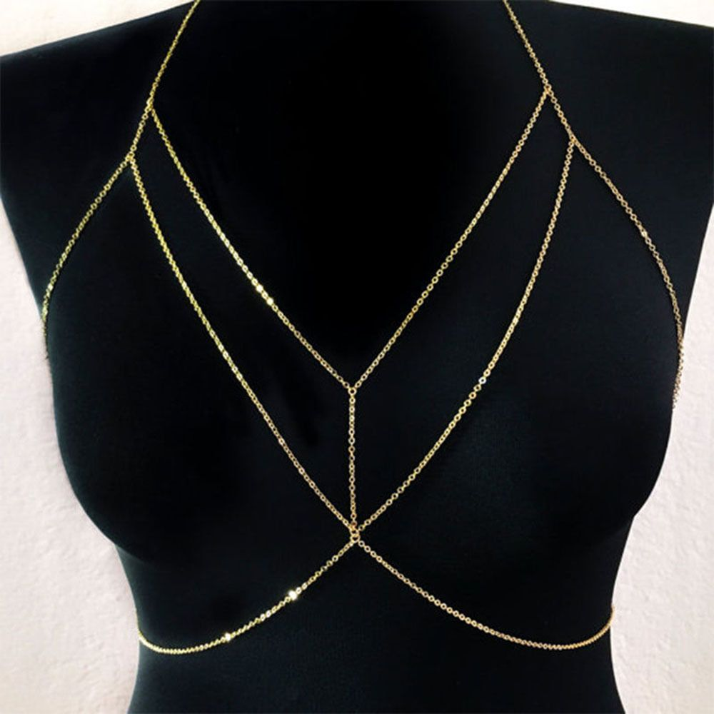 Bikini Beach Belly Waist Necklace Crossover Harness Sexy Body Chains   Unbranded cd8d492841e