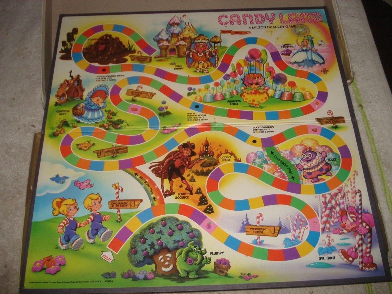 Auctiva Image Hosting Candyland Vintage Board Games Candyland Board Game