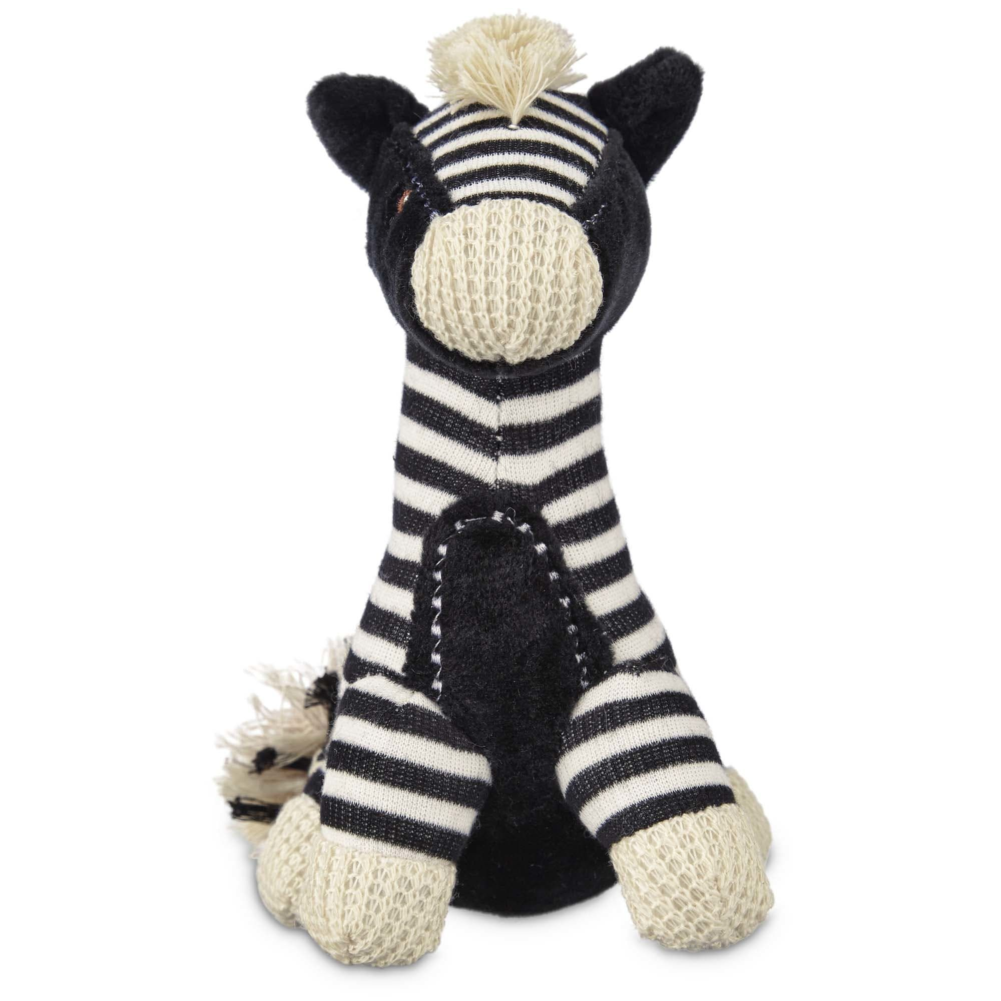 Leaps Bounds Wildlife Plush Zebra Dog Toy 6 Small Dog Toys