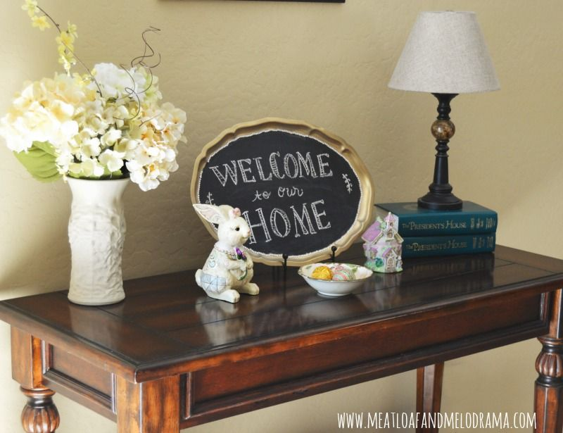 Easy Spring and Easter Decor Meatloaf and Melodrama Home