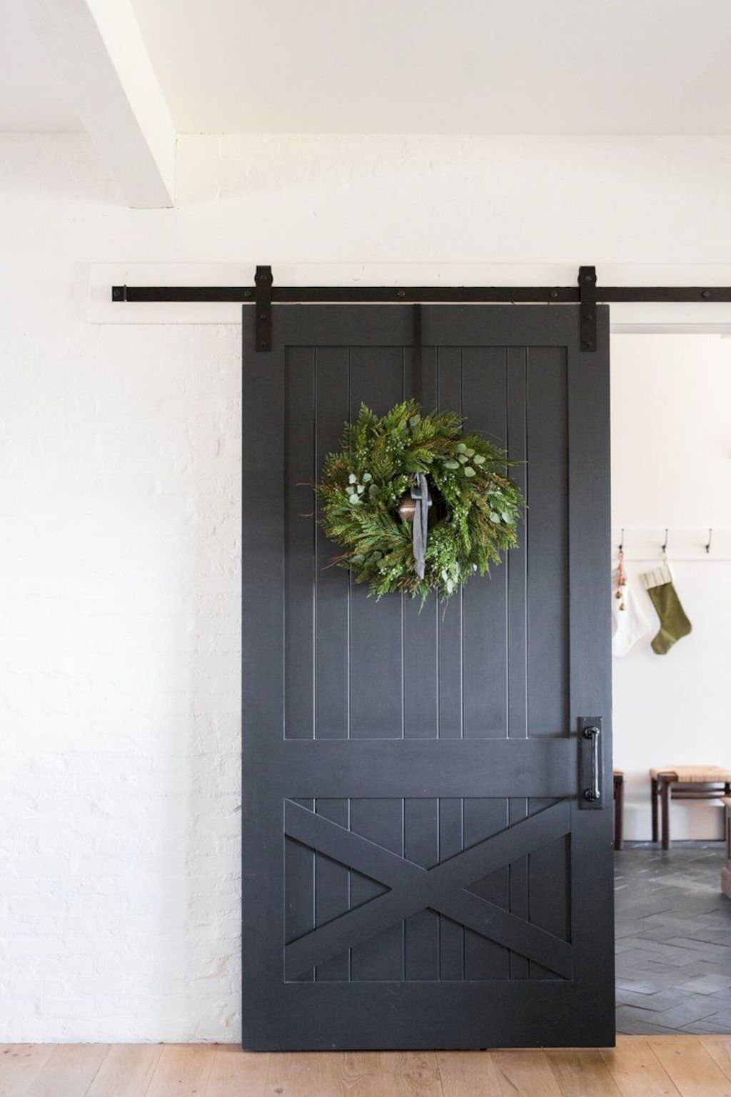 Barn Style Sliding Doors Applied As Bedroom Doors Showing A Rustic Accent In The Modern Country Homes Image 39 Shairoom Com Barn Style Sliding Doors Farmhouse Doors Sliding Barn Door Hardware
