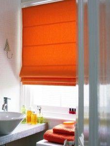 Orange Roman Blind