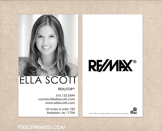 Remax Business Cards Realtor Real Estate Agent Simple Modern