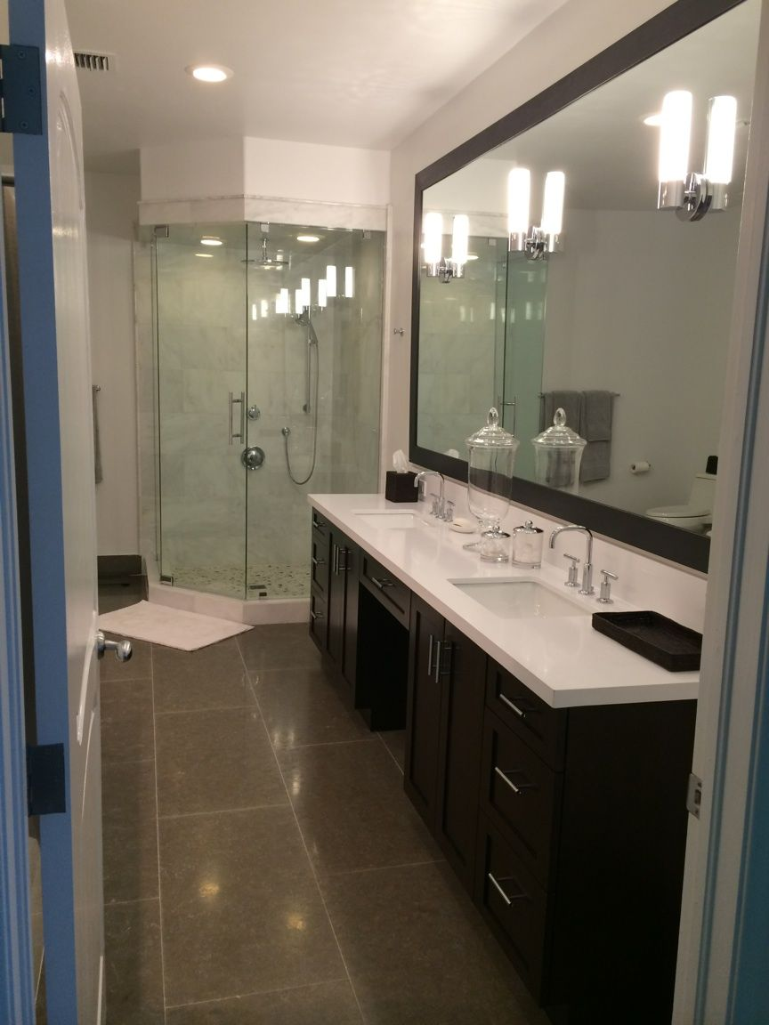 Private Residence | Super White Quartz Vanity Top « Marmol | Our