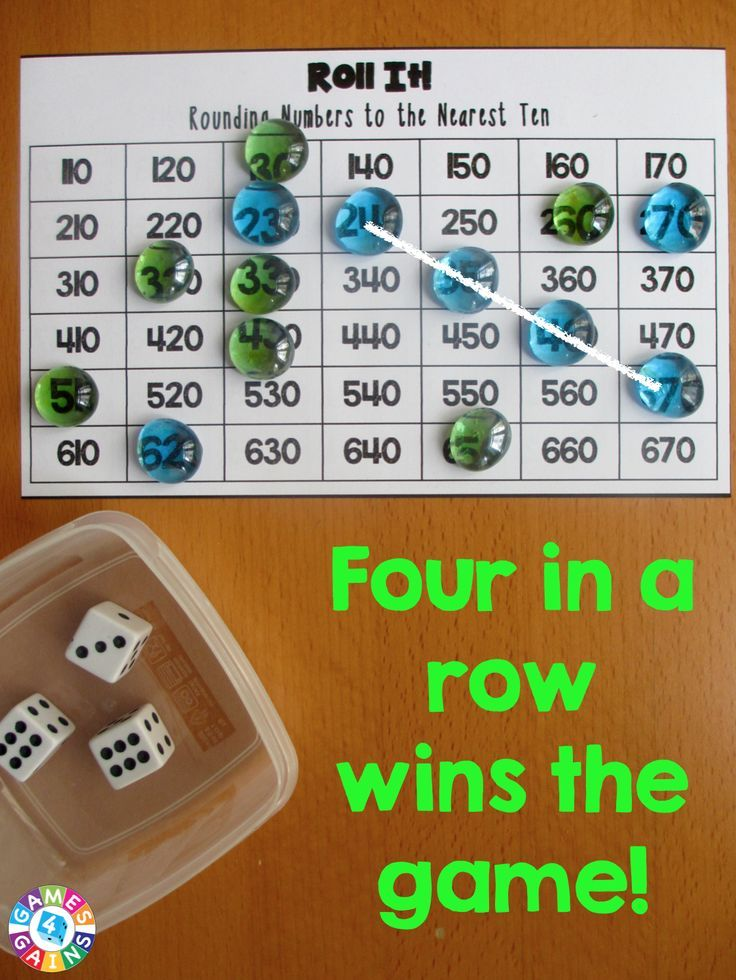 Roll It! Rounding Game | Rounding games, Game boards and Math