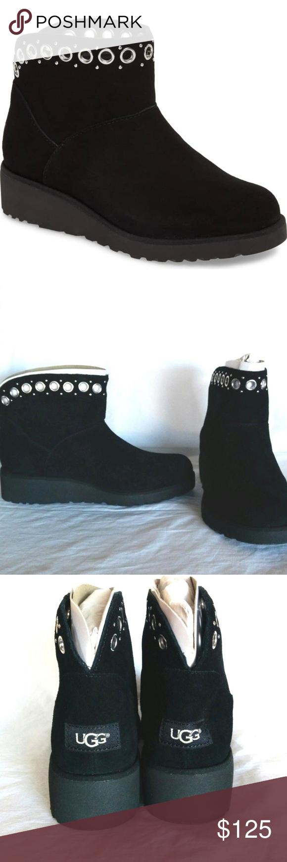 96204389d273 NIB UGG Riley Grommet Mini Boot Bootie New with box Women s Riley Grommet  Mini Suede Sheepskin