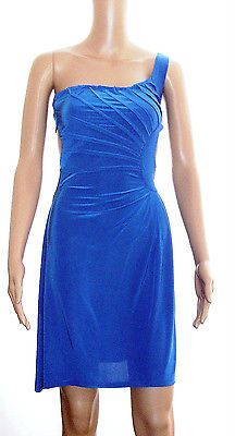 NEW Royal Blue One Shoulder Formal Party Wedding  Cocktail Lady Dress size M !