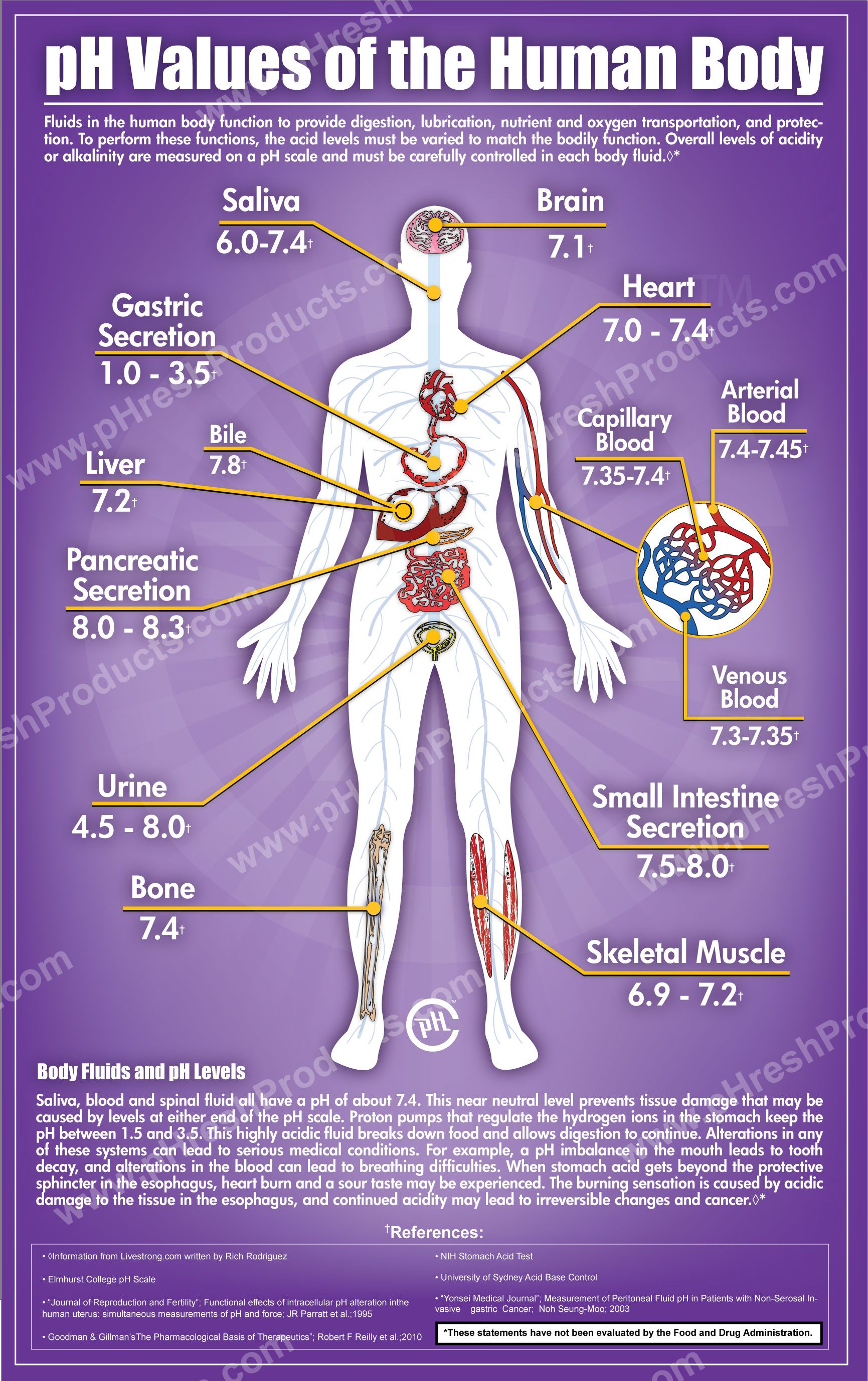 pH of body tissues | Knowledge Bank: Nurse | Pinterest | More best ...