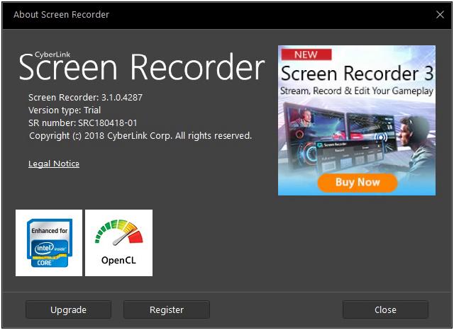 تحميل برنامج تسجيل سطح المكتب بالصوت واللفيديو Cyberlink Screen Recorder Screen Recorder Records Streaming