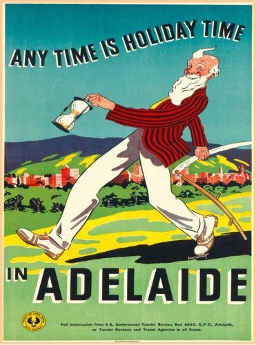 Adelaide South Australia Vintage Australian Travel Advertisement Art Poster Tourism Poster Vintage Travel Travel Posters