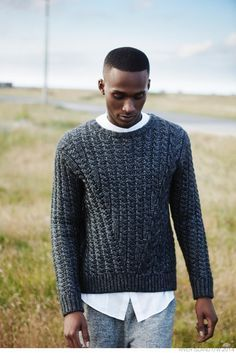 Man wearing a sweater.