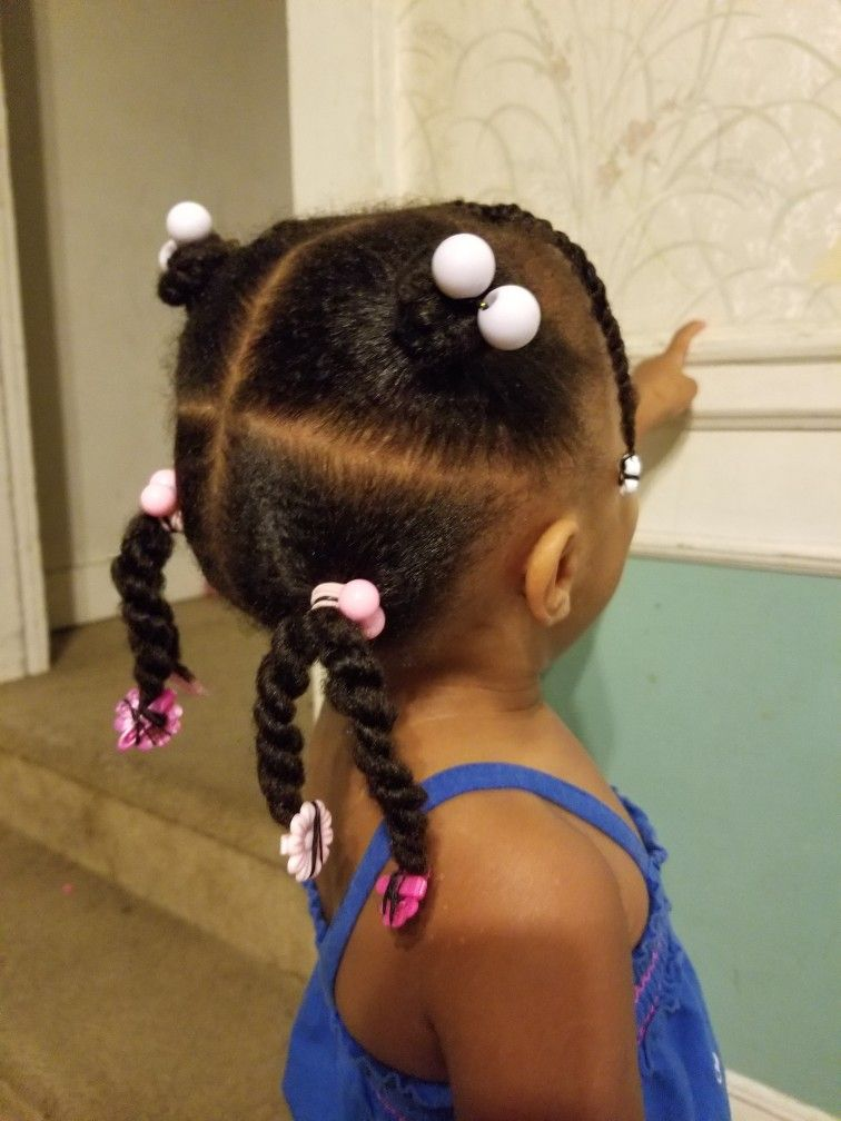 Something Simple Quick And Easy Natural Hair Styles Easy Black Girl Hairstyles Natural Hairstyles For Kids