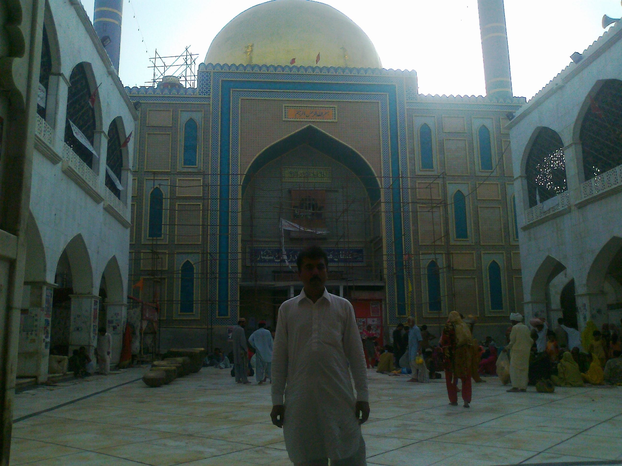 Me at Shrine of Lal Shahbaz Qalander photo by Daniyal Ali