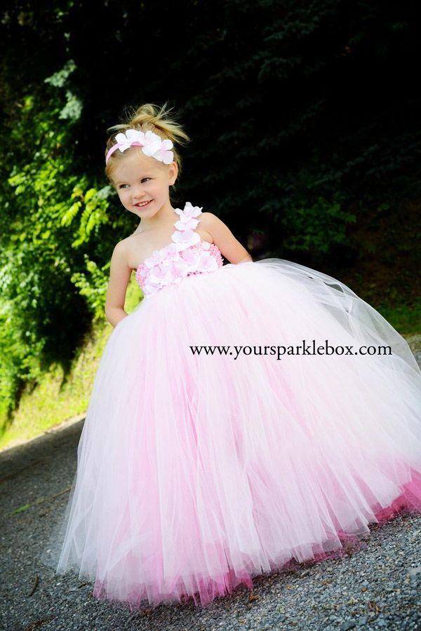 Pink Hydrangea Tutu Dress By Yoursparklebox Vestido Niña
