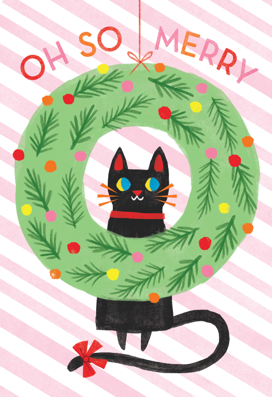 Merry Cat Christmas Card Greetings Island Retro Christmas Cards Cat Christmas Cards Christmas Cards Free