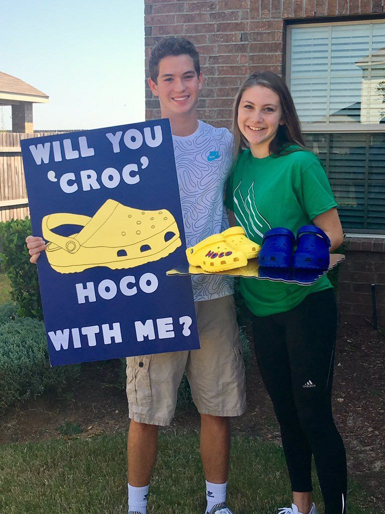 [Photography]Hoco Proposals Ideas crocs #hocoproposalsideas