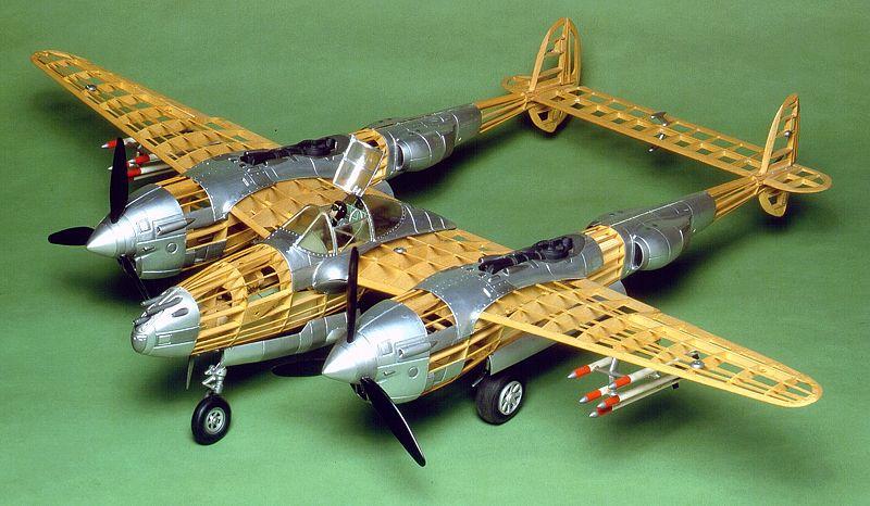 P38 Lightning Balsa Model Kit Airplanes Model
