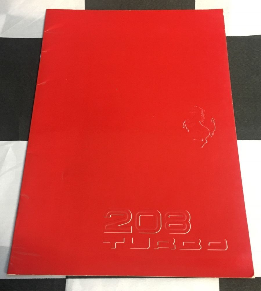 1982 ferrari 208 turbo gtb oversized sales brochure prospekt rh pinterest com Owners Manual 2012 Ferrari FF Ferrari F430
