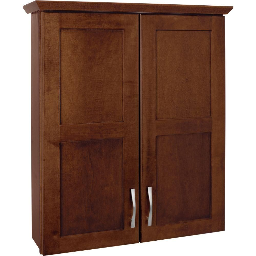 Captivating Glacier Bay Casual 25 In. W Bath Storage Cabinet In Cognac TTCY ACO At The  Home Depot