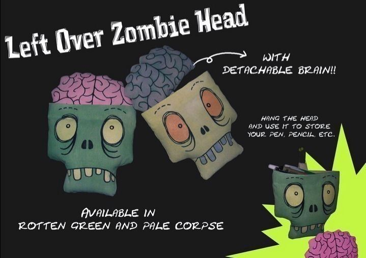 Zombie Head With Detachable Brain Zombie Head Brain Sewing