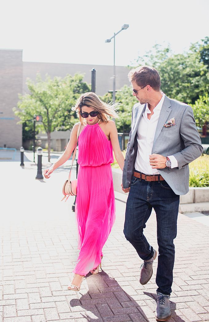 Pink Pleated Maxi + What to Wear to a Day Wedding Day