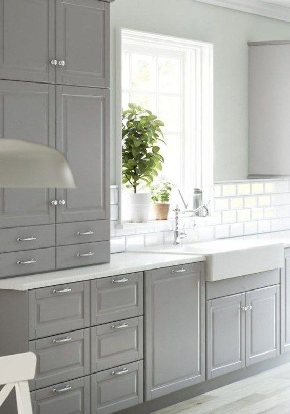 20+ Gorgeous Ikea Kitchen Design Ideas #greykitchendesigns