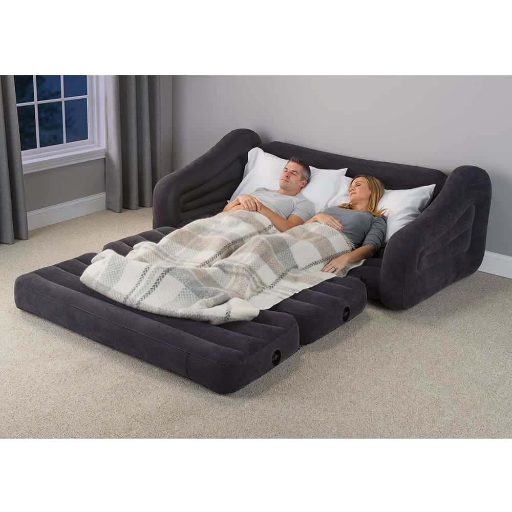 the inflatable queen size sleeper sofa hammacher schlemmer