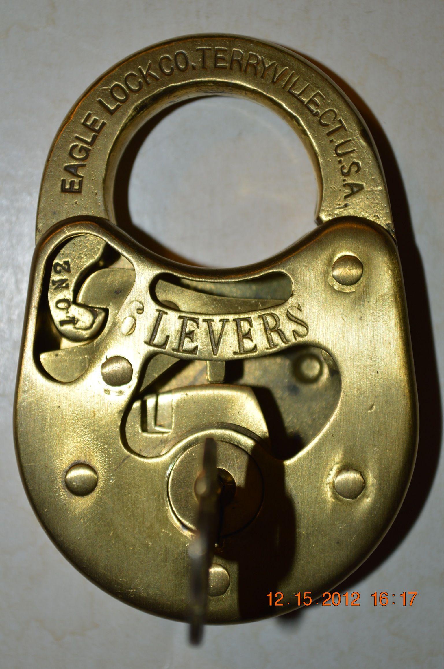 A close up my Eagle 6 Lever cutaway Padlocks Pinterest