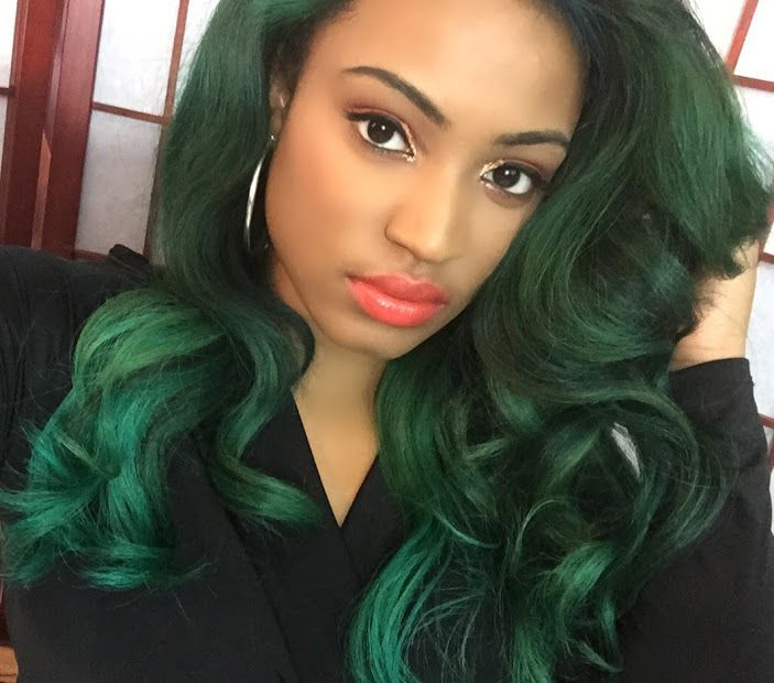 Emerald Hair Using The Color By Adore